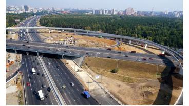 Строительство транспортной развязки «Южная Рокада» в Москве