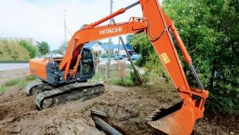 Аренда гусеничного экскаватора Hitachi ZX130-5G