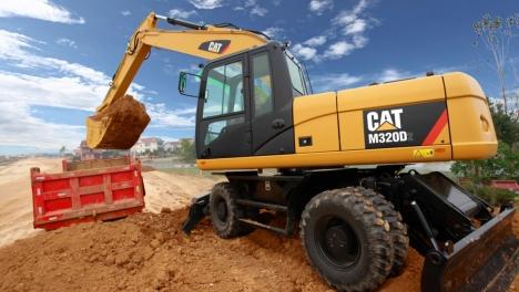Аренда колесного экскаватора CAT M320D2