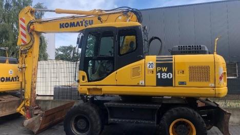 Аренда колесного экскаватора Komatsu PW180-7
