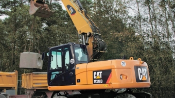 Аренда колесного экскаватора Caterpillar M318D