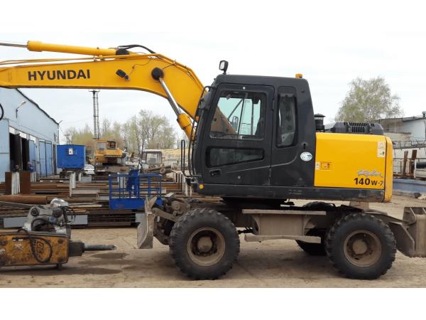 Аренда колесного экскаватора Hyundai 140W-7