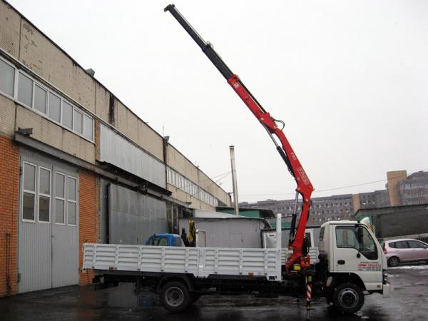 Аренда манипулятора 3 тонны ISUZU NQR75